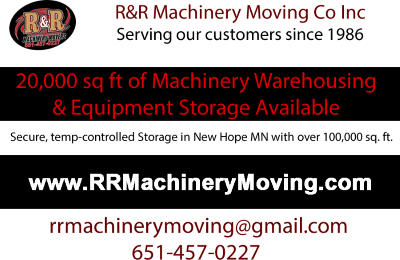 Equipment Storage Available - R&R Machinery Moving