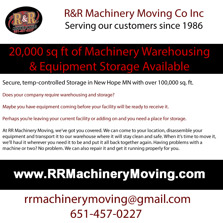 equipment storage available St Paul MN